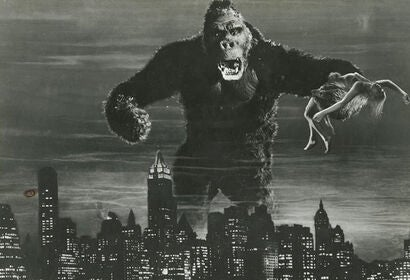 "Fay Wray and King Kong in ""King Kong"" (1933)"