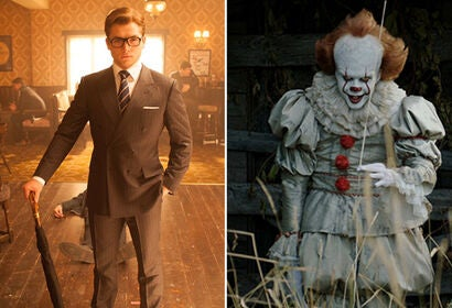 """Scenes from """"Kingsman: The Golden Circle"""" and """"It"""""""