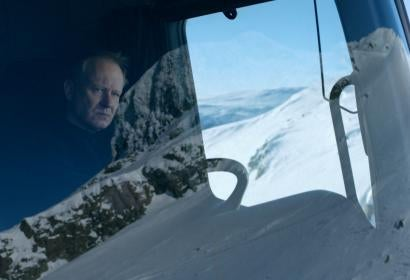 "Stella Skarsgard ina scene from the Norwegian film ""In Order of Disappearance"""