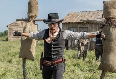 Actor Byung-hun Lee in a scene from ' The Magnificent Seven""