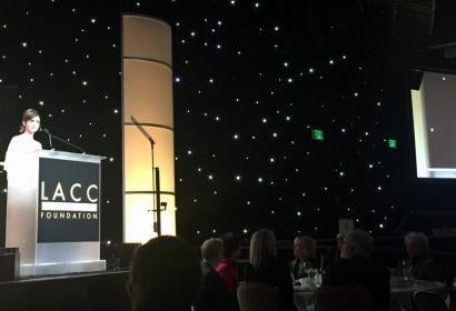 Lilly Collins introduces LACC's  HFPA Center for Cinema and Television, foto Luca Celada