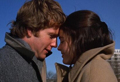 """A scene from """"Love Story"""", 1970"""