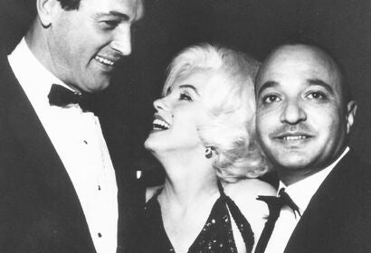 HFPA member Mahfouz Doss with Marilyn Monroe and Rock Hudson, 1960s
