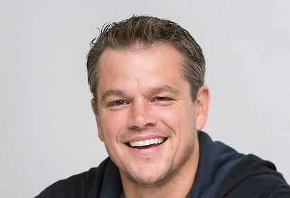 Actor and produecrs Matt Damon, Golden Globe winner