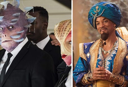 "Scenes from ""Men in Black: International"" and ""Aladdin"""