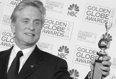 Michael Douglas with his Cecil B. deMille award 2004