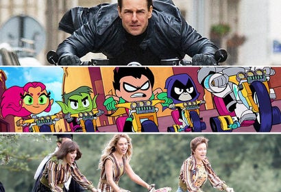 "Scenes from ""Mission Impossible - Fallout"", ""Teen Titans Go! To the Movies"" and ""Mamma Mia! Here We Go Again"""
