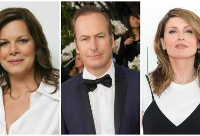 Golden Golbe nominee Bob Odenkirk, Marcia Gay Harden and Sharon Horrgan