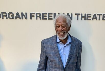 Actor Morgan Freeman, Golden Globe winner, Cecil B.deMille award recipient