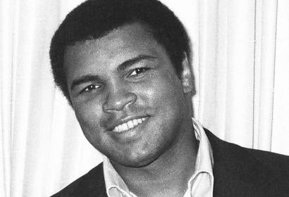 Muhammad Ali at an HFPA press conference, 1979