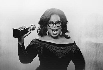 Oprah Winfrey with her Cecil B. deMille award