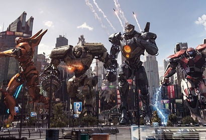 "A scene from the movie ""Pacific Rim: Uprising"""