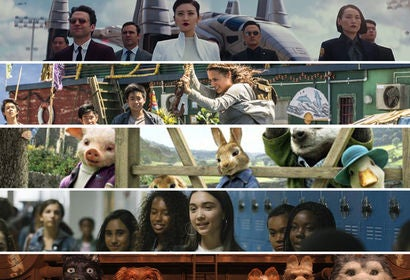 "Scenes from ""Pacific Rim Uprising"", ""Tomb Raider"", ""Peter Rabbit"", ""A Wrinkle in Time"" and ""Isle of Dogs"""