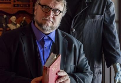 Director Guillermo Del Toro at his exhibition at LACMA. 2016