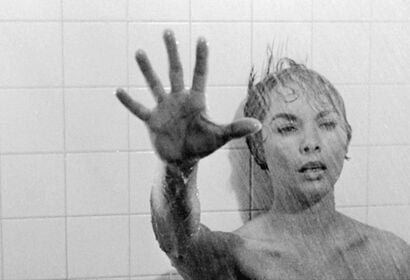 """Janet Leigh in a scene from """"Pyscho"""", 1960"""