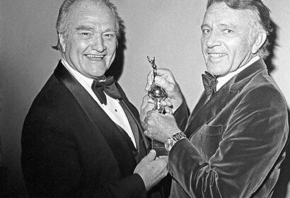 Actors Red Skelton and Richard Burton, 1978