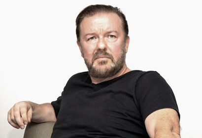 Actor and producer Rcky Gervais, Golden Globe winner