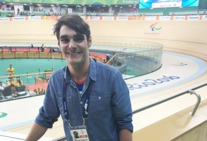 RJ Mitte at Paralympics in Rio
