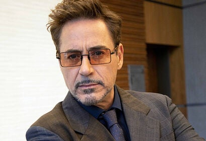 Actor Robert Downey Jr.,Golden Globe winner