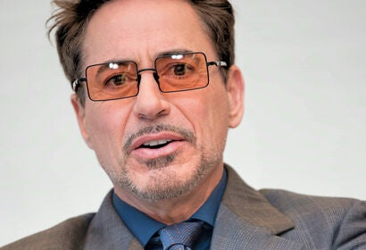 Actor and producer Robert Downey Jr. Golden Globe winner