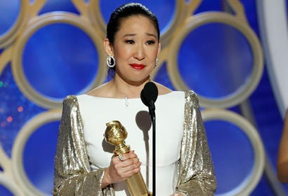 Sandra Oh at the 2019 Golden Globes