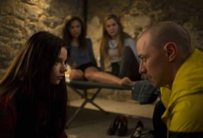 "Anya Taylor-Joy, left, and James McAvoy, right, in a scene from, ""Split"""