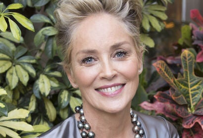 Actress Sharon Stone, Golden Globe winner