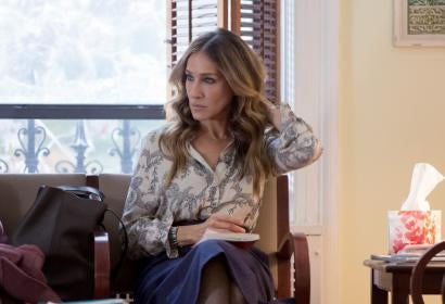 "Actres Sarah Jessica Parker , Golden Globe winner, in a scene from the HBO series ""Divorce"""