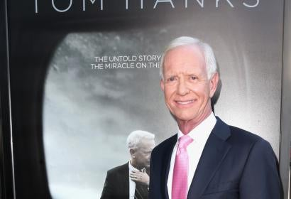 """Chesley """"Sully"""" Sullenberger at the premiere of Clint Eastwood's movie """"Sully"""""""