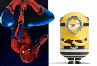"""Scenes from """"Spiderman: Homecoming"""" and """"Despicable Me 3"""""""