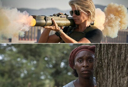 "Linda Hamilton in ""Terminator: Dark Fate"" (2019), Cynthia Erivo in ""Harriet"" (2019)"