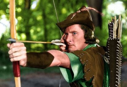 "A scene from ""The Adventures of Robin Hood"", 1938"