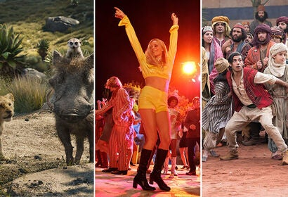 "Scenes from ""The Lion King"", ""Once Upon a Time in … Hollywood"", ""Aladdin"""