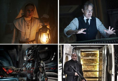 "Scenes from ""The Nun"", ""The House with a Clock in Its Walls"", ""The Predator"", ""Golden Job"""