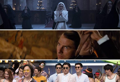 """Scenes from """"The Nun"""", """"Mission Impossible - Fallout"""", """"Crazy Rich Asians"""""""