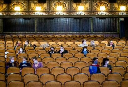A movie theater in the Czech Republic, 2020