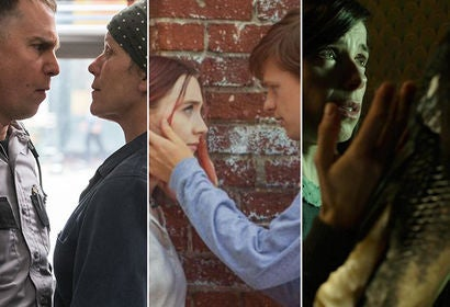 "Frances McDormand and Sam Rockwell in ""Three Billboards Outside Ebbing, Missouri""/Saoirse Ronan and Lucas Hedges in ""Lady Bird""/Sally Hawkins and Doug Jones in ""The Shape of Water"""