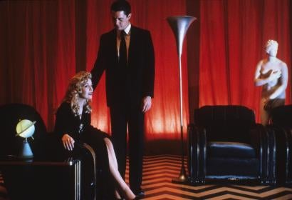 A scene from the TV series Twin Peaks, Golden Globe winner