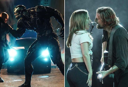 "Scenes from ""Venom"" and ""A Star is Born"""