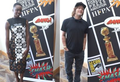 Actors Danai Gurita and Norman Reedus at Comic-Con 2018