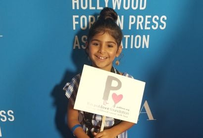 Yasmine, a Pablolove Shutterbug, at the HFPA Grants Banquet 2018