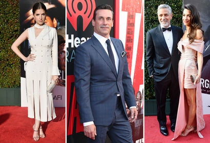 Anna Kendrick, Jon Hamm and George and Amal Clooney