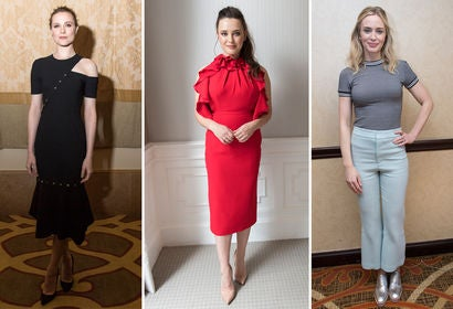 Evan Rachel Wood, Katherine Langford and Emily Blunt