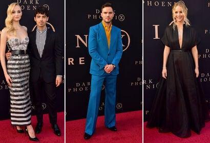 Sophie Turner with Joe Jonas, Nicholas Hoult, Jennifer Lawrence