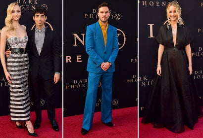 Sophie Turner with Joe Jonas, Nicholas Hoult, Jennifer Lawrence