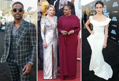 Sterling K. Brown, Lea Seydoux with Ava DuVernay and Jenny Slate