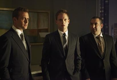 Harvey, Mike and Lewis from Suits