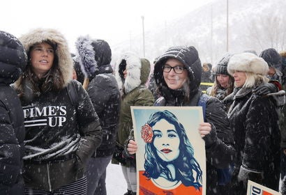 "Times Up ""Respect Rally"" at Sundance Film Festival 2018"