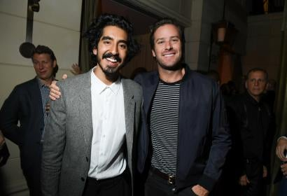 Dev Patel and Army Hammer at HFPA/InStyle Party - 41st TIFF