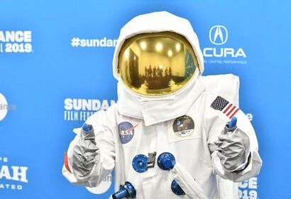 "An ""astronaut"" from the doc Apollo 11, at Sundance 2019"
